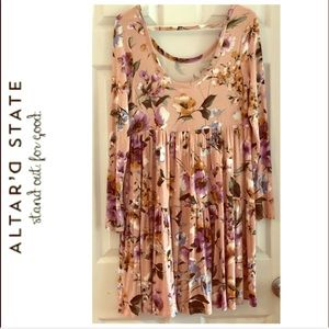 Altard State Babydoll Floral Dress